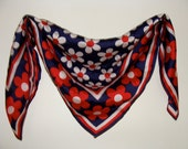 Red, White and Blue Daisy Scarf
