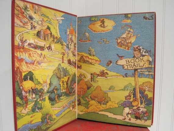 vintage 'book trails' set of 8 volumes - 'baby feet'  through 'on the high road to adventure'
