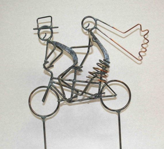 tandem bicycle wedding cake topper with pedals tandem bicycle wedding cake topper 20752