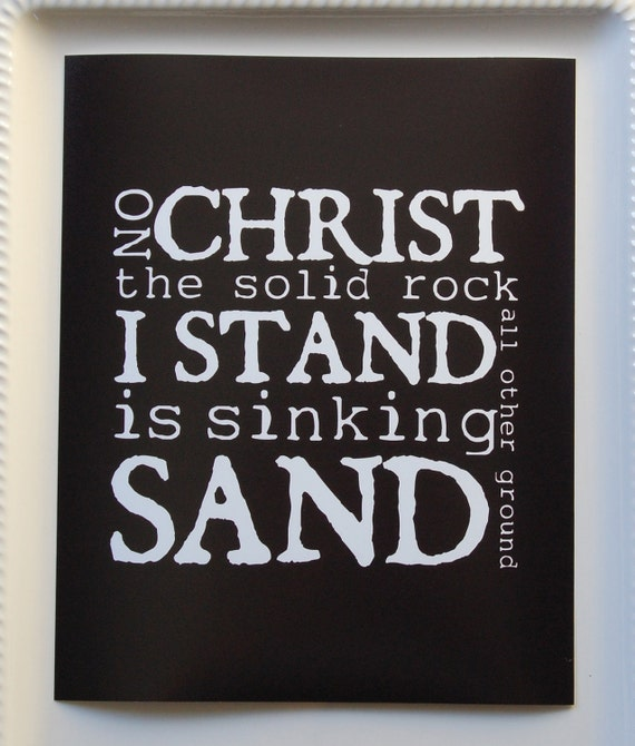 Clearance Solid Rock Print Black 8x10 Ready To Ship