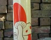 Vintage Glass Mushroom Candle