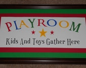 Reserved for Jess Paperlicious Large Playroom Sign Sage Green