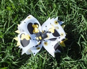 Yellow Bumblebee Minnie Mouse Inspired Hair Bow