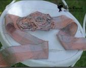 Pink Scarf Headband