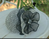 Black and White Cocktail Hat: Tea