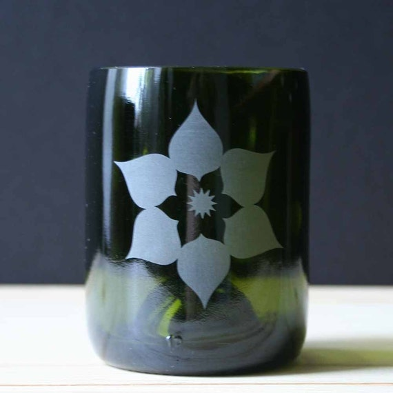 Recycled Bottle Drinking Glass - Lotus Mini Juice - Single