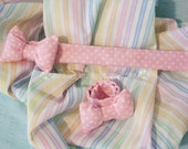 Pink Polka Dot Stuffed Bow Slap Bracelet