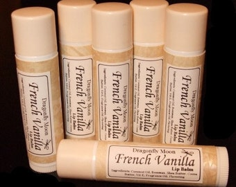 FRENCH VANILLA Flavored Beeswax & Shea Butter Lip Balm All Natural