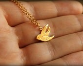 Song Sparrow Necklace, Available in Silver or Gold