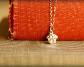 Cupcake Necklace in Sterling Silver