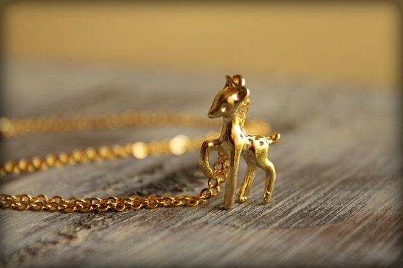 Golden Fawn Necklace