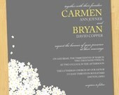 Printable Wedding Invitation LOVE Collection-Your Choice Colors