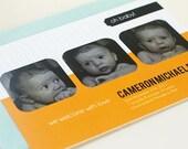 DIY Printable Mod Baby Boy or Girl Photo Announcement