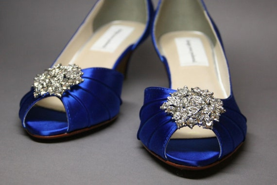 Wedding shoes blue wedding shoes design my own wedding wedding shoes blue wedding shoes design my own wedding shoes custom wedding something blue blue bridal shoes peep toes kitten heels junglespirit Image collections