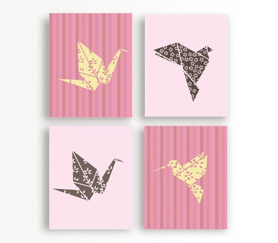 Items Similar To Origami Art Origami Wall Art Bird
