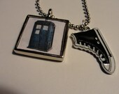 Doctor Who Tardis and Converse Necklace
