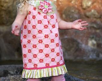 READY TO SHIP Size 3T Ruffle Tunic Dress/Shirt for Summer