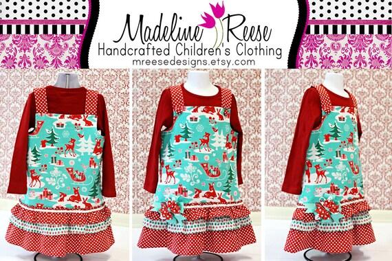 READY TO SHIP Size 6 Girl's Adorable Christmas Ruffle Dress