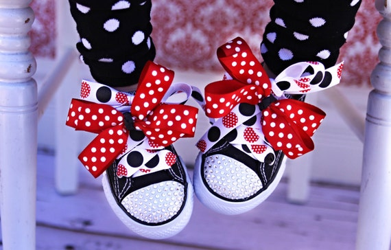 Swarovski Crystal Bling Shoes for Toddlers Size 8