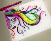 Rainbow Tears - 8 x10 Print