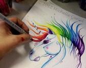 I believe in unicorns- 8x10 Print