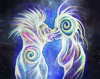 Cosmic Kiss - 8x10 print