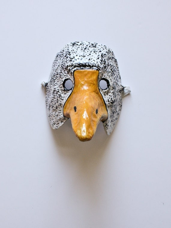 Papier mache duck mask - Masque papier mache ...