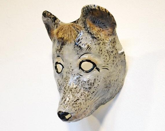 Paper mache mouse mask
