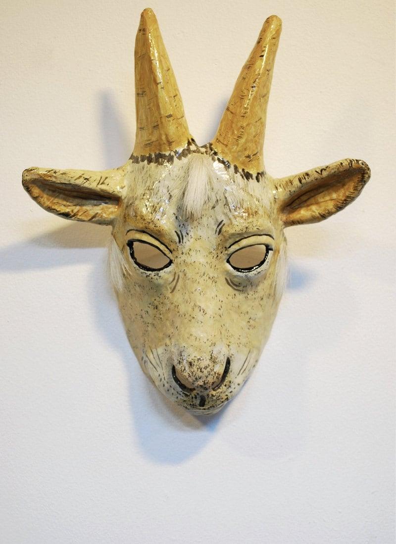 Papier mache goat mask by jevgeniamasks on etsy - Masque papier mache ...