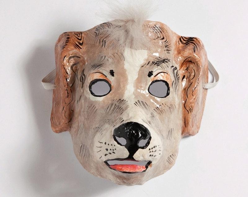 Paper mache dog mask for Paper mache mash