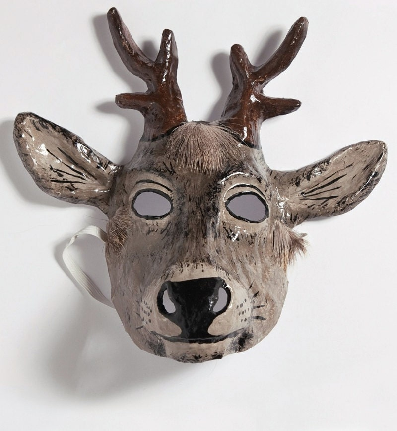 Paper mache deer mask for Paper mache mash