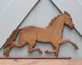 Vintage Carved Wood Horse Plaques, 2 to choose from