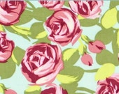 FLANNEL Amy Butler LOVE pink tumbled roses