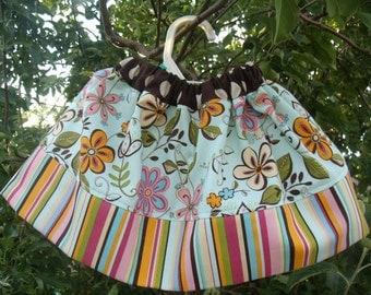 Girls skirt, Twirl Skirt, Infant skirt, toddler skirt, Custom..Flower Patch..sizes 0-12 months, 1/2, 3/4, 5/6, 7/8, 9/10 Bigger Sizes