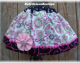 Girls infant toddler Skirt Custom..Bloomin Vineyard..Available in 0-12 months, 1/2, 3/4, 5/6, 7/8, 9/10 Bigger Sizes Available
