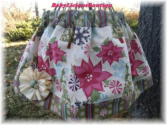 Girls Twirl Skirt Custom..Pretty little Princess Christmas..Available in 0-12 months, 1/2, 3/4, 5/6, 7/8, 9/10 Bigger Sizes Available