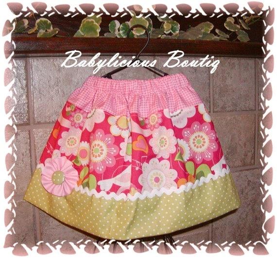 Girls skirt, Twirl Skirt, Infant skirt, toddler skirt, Custom..Tweety Bird..sizes 0-12 months, 1/2, 3/4, 5/6, 7/8, 9/10 Bigger Sizes