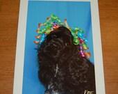 Handmade Cocker Spaniel Dog Photo Birthday Greeting Card