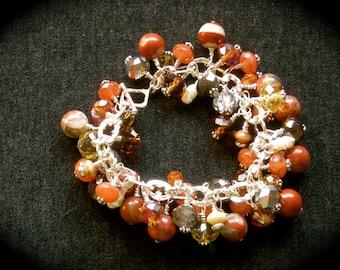 Cha Cha Bracelet, Dramatic Red Jasper Sterling Silver Bracelet