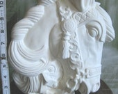 Absolutely Beautiful, Large Carousel Horse Bust, Horse head, Parade Horse, Vintage, ready to paint, u-paint, ceramic bisque