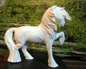 """Enchanting, Gypsy Horse, Draft Horse, Show Horse, Collectible Horse, 10"""" tall, Ready to paint, U-paint, Ceramic Bisque"""