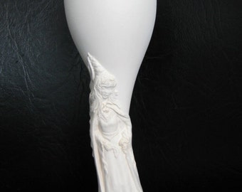 Lovely, Princess Goblet, Maiden Goblet, Princess, Cup, Renaissance Goblet, Snow White, Cinderella, Ready to paint, Ceramic bisque, u-paint