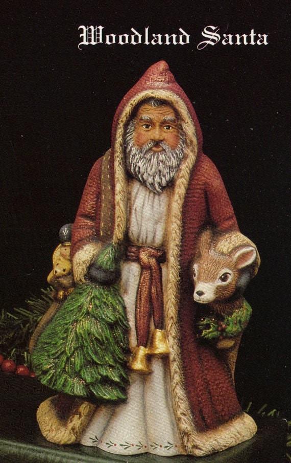 Rare,Old World Santa, Woodland Santa, Kimple santa, Colletible, Santa and Reindeer,Christmas Decoration, Ready to paint, Ceramic u-paint