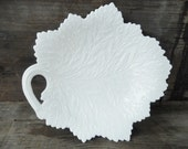 Milk Glass Serving Platter