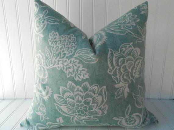 Etsy Teal Throw Pillow : Items similar to Blue Pillow.Decorative Pillow Cover.Teal Blue Pillow.Floral Pillow.Cushion ...