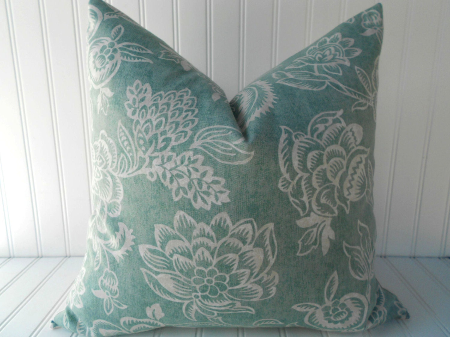 Teal Blue Decorative Pillows : Blue Pillow.Decorative Pillow Cover.Teal by MariaClaireInteriors