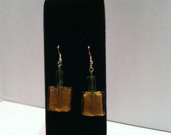 JR204E Glass bead earrings