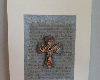 JR336 Wood cross collage