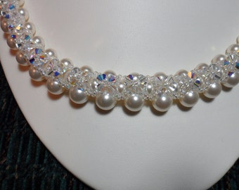 Bridal Collection:  Swarovski Crystal and Pearl necklace