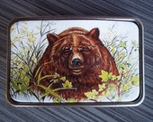 Belt buckle - Grizzly Bear Leather Belt buckle